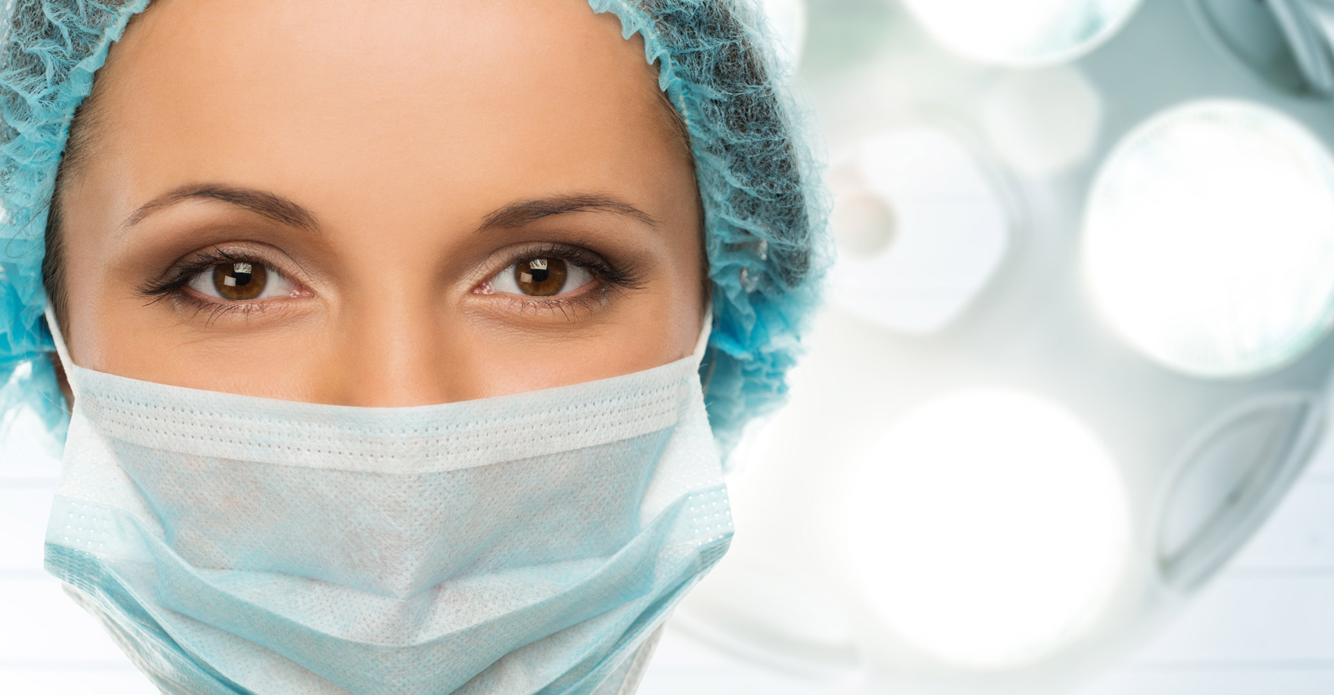 Image of doctor with surgical mask on
